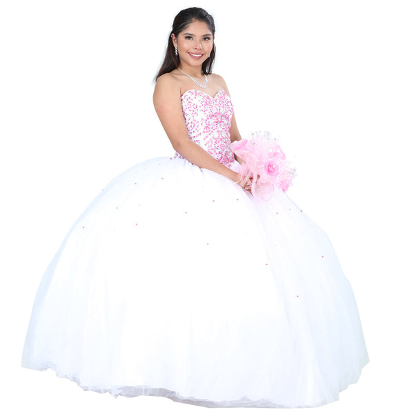 White Quinceañera Dress