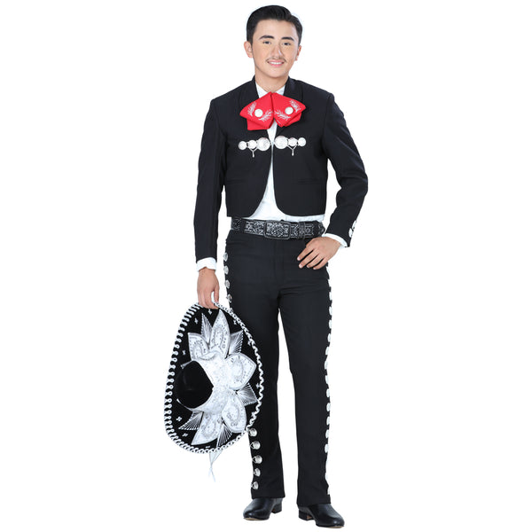 Men Black & Silver Charro Suit