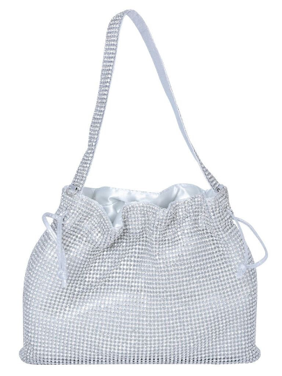 Silver Rhinestone Small Hanging Purse