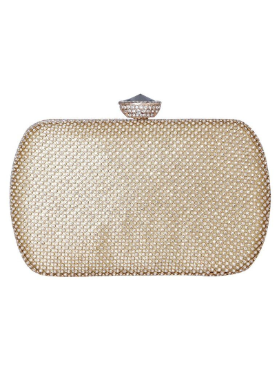 Gold Rhinestone Clutch