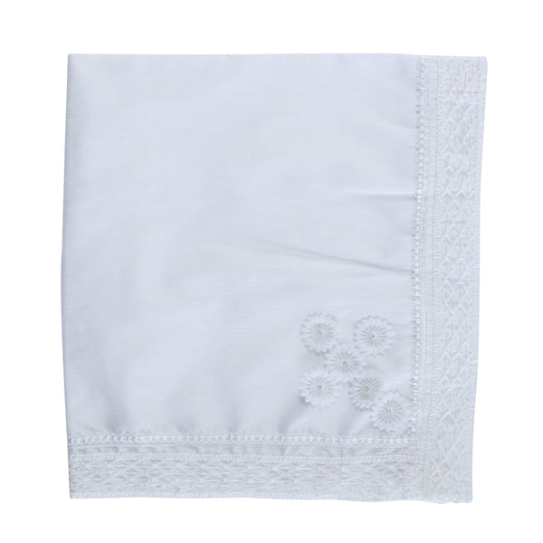 Baptismal Blanket With Flowers
