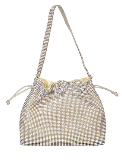Gold Rhinestone Small Hanging Purse
