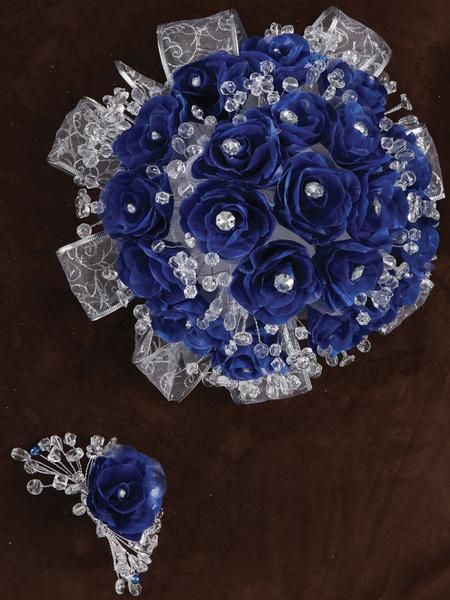 Rose Bouquet Royal Blue