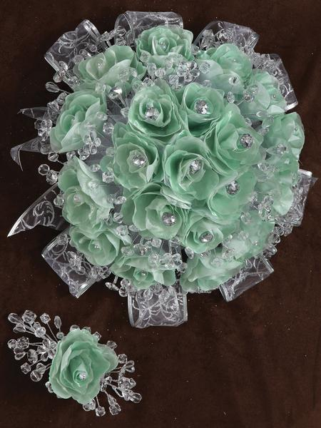 Rose Bouquet Light Green
