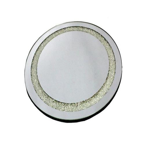 Round Table Mirror with Crystal Detail