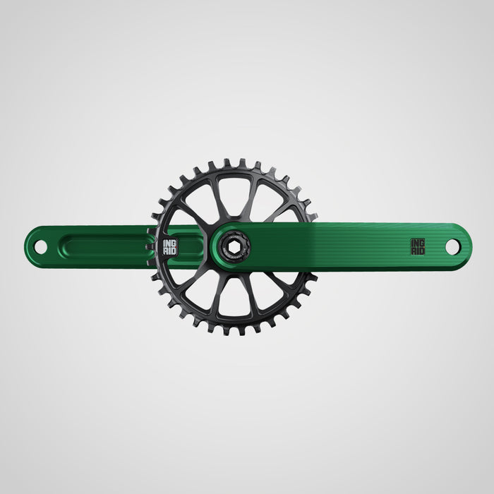 INGRID Cranckset CRS-GRAVITY 170mm Axle L136 GREEN