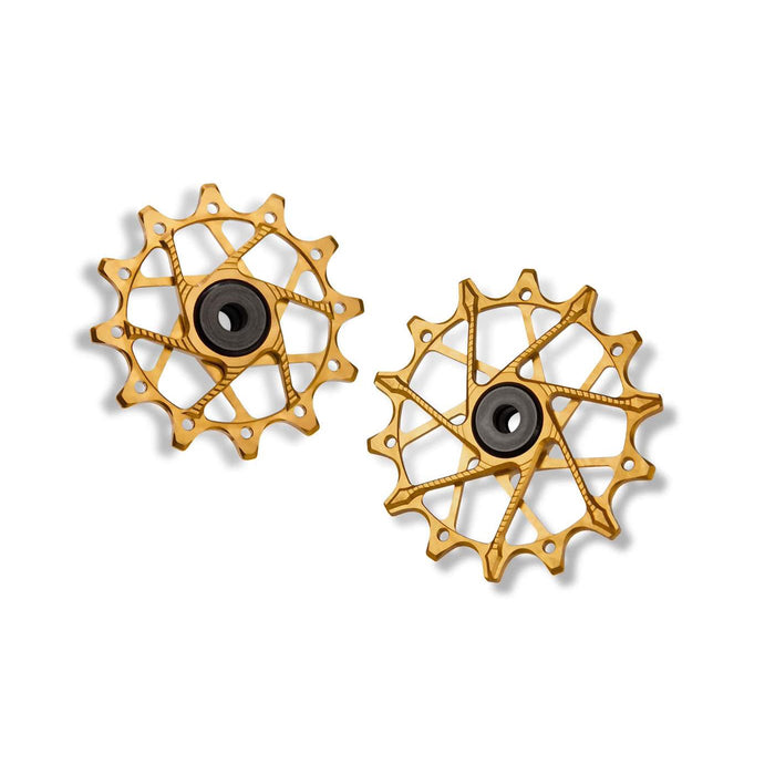 GARBARUK Rear Derailleur Pulleys for SRAM | Set - 12T + 14T (for 11/12 sp. with standard cage), Gold