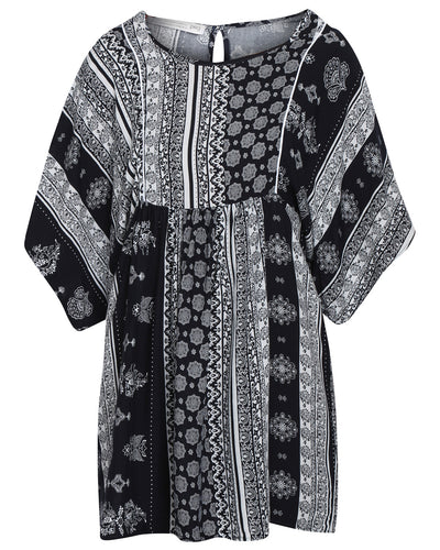 Oasis Dress Paisley Navy