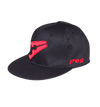 Baseball Flat Cap - Black and Red