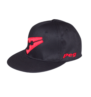 Baseball Flat Cap - Black and Red 1a958bb5601
