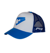 Trucker Cap Bent Peak - Blue and White D1