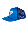 Trucker Cap Flat Peak - Blue D1