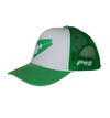 Trucker Cap Bent Peak - Green and White D1