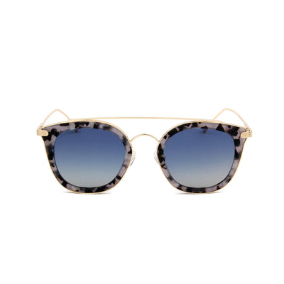 Julie Grey Fade Tortoise - Front View – Grey lens - Mawu Sunglasses