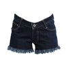 Mid Rise Denim Shorts Dark Blue