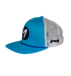Trucker Cap Flat Peak- White and Light Blue D3