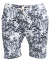 Boomerang Shorts -Tropical Ash White Grey