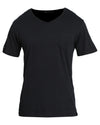 V Neck Pocket Black