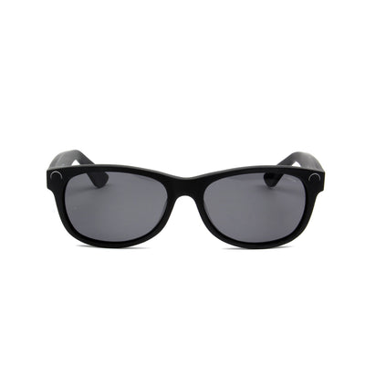 Maiao Matte Black - Front View - Grey lens - Mawu sunglasses
