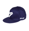 Baseball Flat Cap -Navy and White