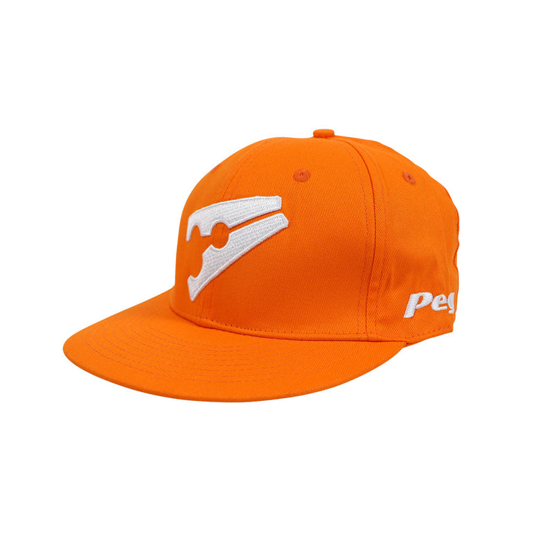 Baseball Flat Cap -Orange and White. Sale 20866322b79