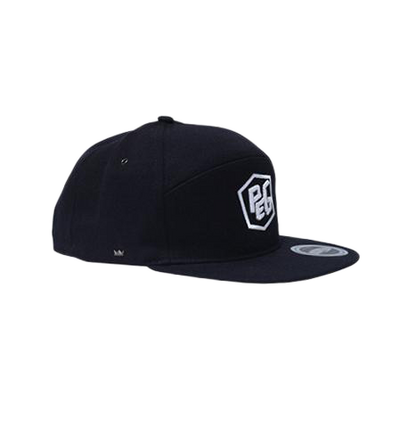 Peg - Black Snapback 6 Panel Cap