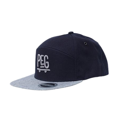 Peg - Navy/ Grey Snapback 6 Panel Cap