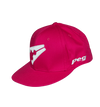 Baseball Flat Cap Peak - Pink and White