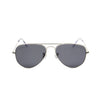 Rafale Silver - Front View - Dark Grey lens - Mawu sunglasses