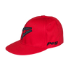 Baseball Flat Cap - Red and Black
