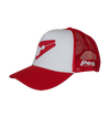 Trucker Cap Bent Peak - Red and White D1
