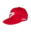 Baseball Flat Cap - Red and White