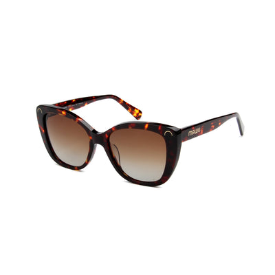 Serene Gold Tortoise - Angle View - Brown Gradient lens - Mawu sunglasses
