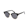 Tropez Jet Black - Angle View - Dark Grey lens - Mawu sunglasses