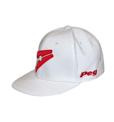 Baseball Flat Cap - White and Red d9d9522f3d6