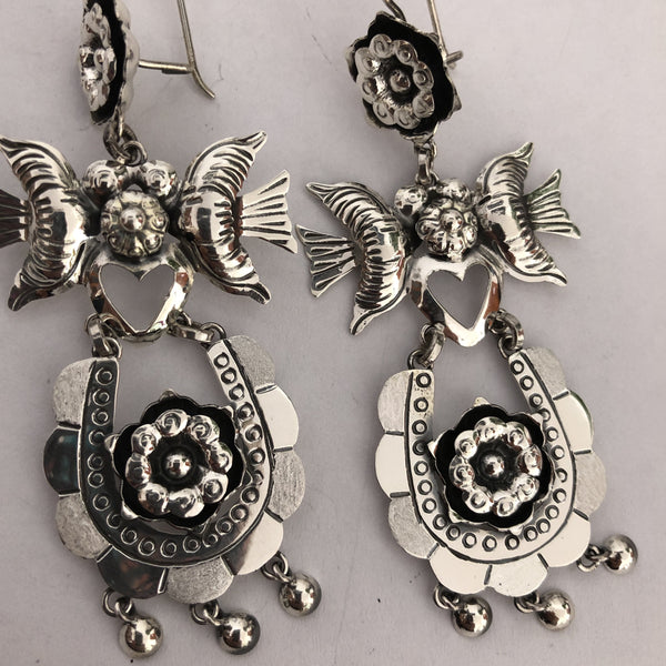 "Frida Collection Sterling Silver Earrings ""Luna"""