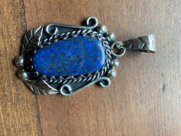 Lapis and Silver Pendant