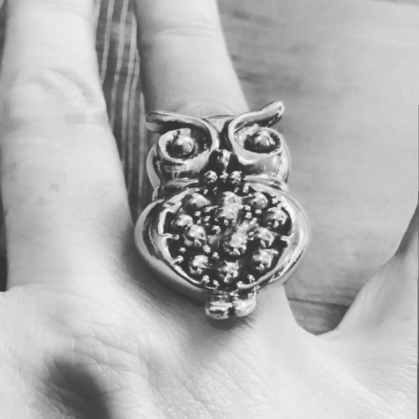 Large Owl Ring