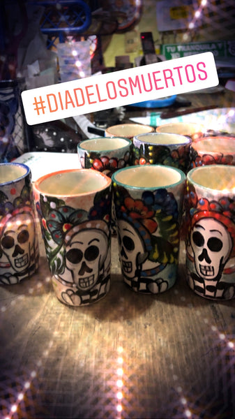 Set of Catrina Ceramic Shot Glasses
