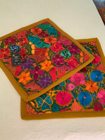 Chiapas Embroidered Pillow Covers
