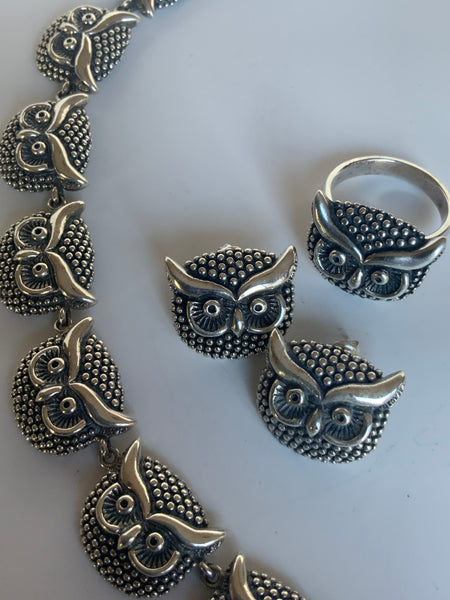 Owl Necklace Set