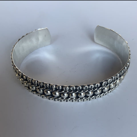 Beaded Cuff with Braided Edge