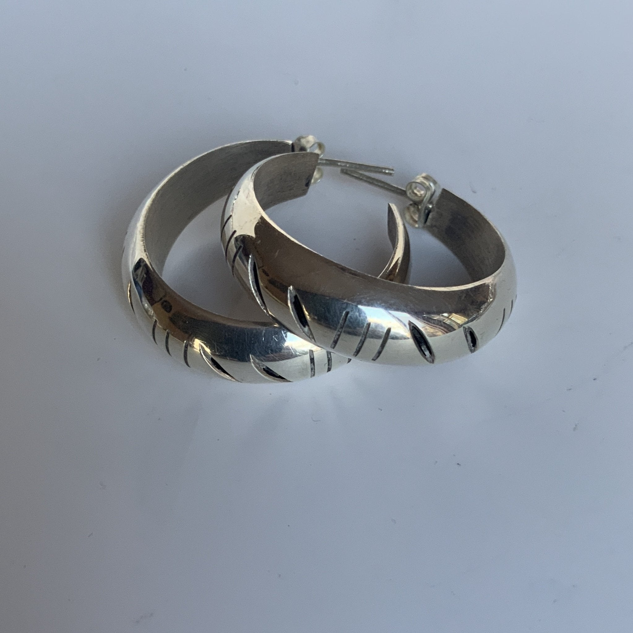 Classic Spanish Knife Hoop Earrings