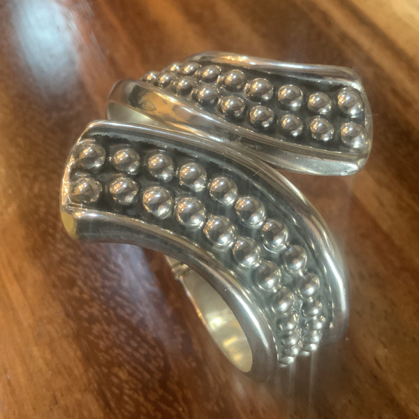 Classic Taxco Beaded Clamper Cuff