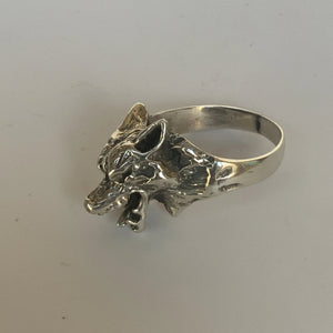 Wolf Dog Sterling Silver Ring
