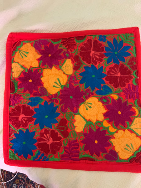 Embroidered Chiapas Pillow Cover