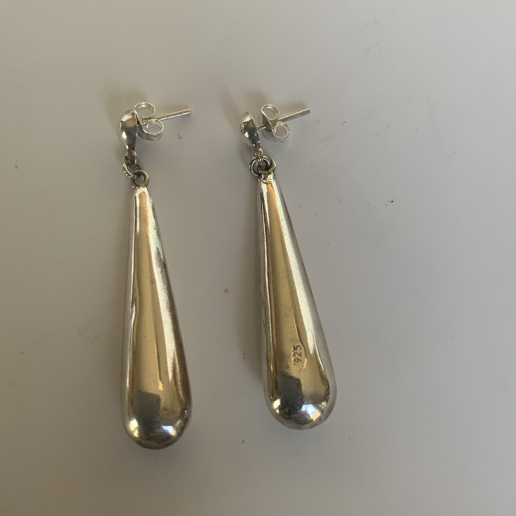 Sterling Silver Pendulum Earrings
