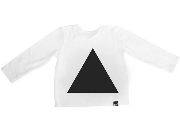 White Triangle Long Sleeve Shirt - ayuki