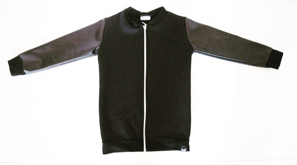 Long Leather Bomber Jacket - ayuki