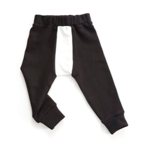 Black/White Baggy Line Pants - ayuki